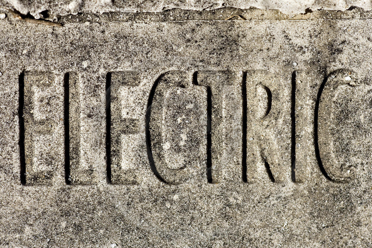 weathered grungy electric sign background