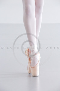 Ballet Dancer Legs in Pointe Shoes