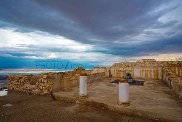 Moody clouds over Masada