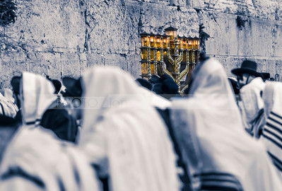 Hanukkiah at the Western Wall