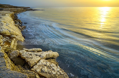Dead Sea shore salt formations