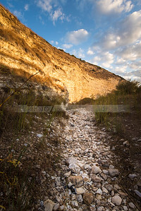 Dry riverbed in the Valley of Elah (Emek HaElah) where David fought Goliath, Israel