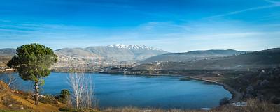 Lake Ram and Mount Hermon, Golan Heights