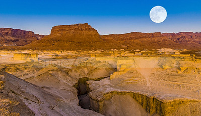 Super moon over Masada, Judean Desert