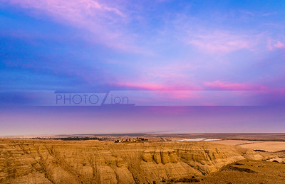 Sunset Sky over Qumran