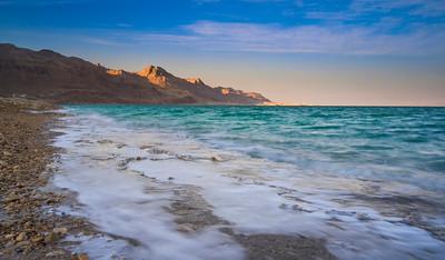 Dead Sea and the Judean desert mountains