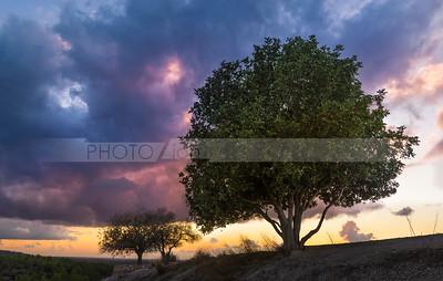 Beautiful sunset at Tel Azekah