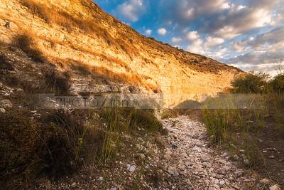 Dry riverbed in the Valley of Elah (Emek HaElah) where David fought Goliath, Israel
