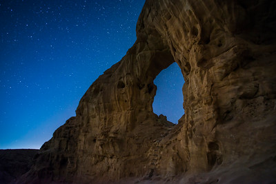 Night at Timna Valley