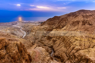 Nahal Dragot leading to the Dead Sea
