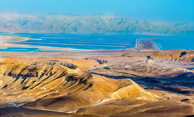 Judean desert wadis and the Dead Sea evaporation ponds