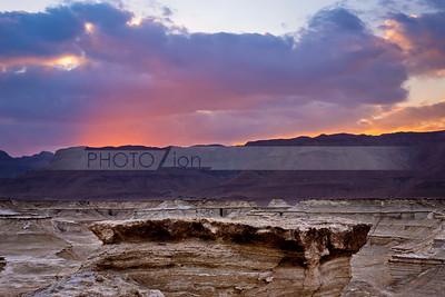 Sunset in Judean Desert