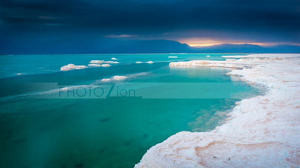Beautiful Dead Sea sunrise