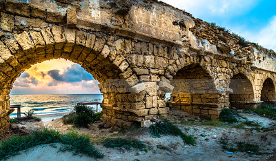 Caesarea Aqueduct Beach