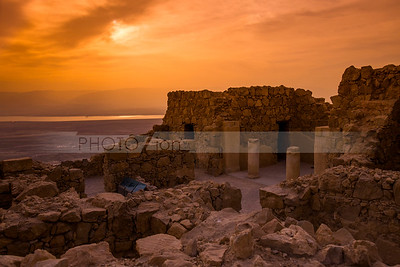 Watching sunrise from Masada