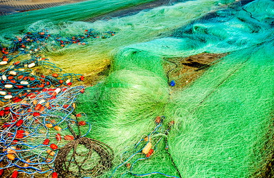 Fishing nets drying, Jaffa Port