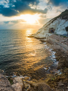Rosh Hanikra cliffs; Northern borders of Israel