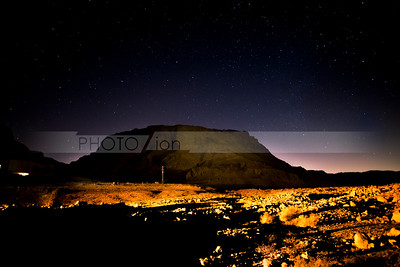 Masada at night