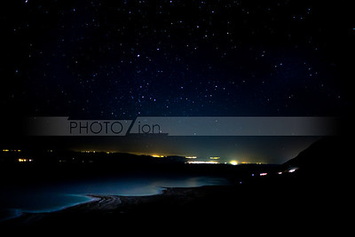 Dead Sea at night