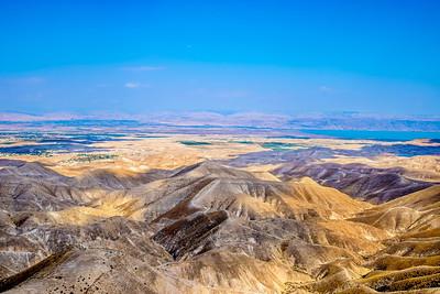 Hills of Judean Desert overlooking the Jordan Valley and the Dead Sea