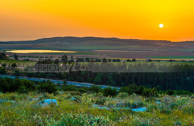 Sunset at Ayalon Valley