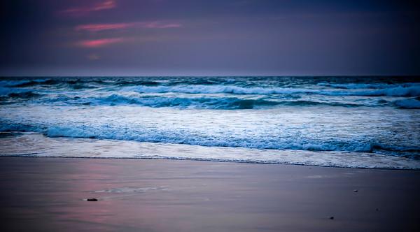 Tel Aviv beach at sunset