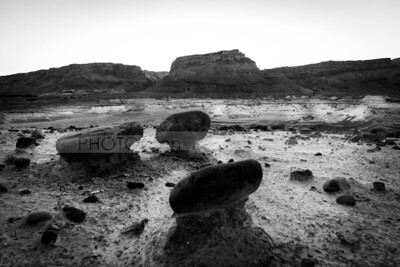 Masada in black and white