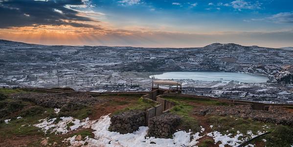 Sunrise at Lale Ram; Golan Heights