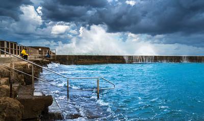 Mediterranean Sea at Caesarea, Israel