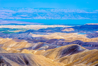 Hills of Judean Desert overlooking the Jordan Valley and the Dead Sea
