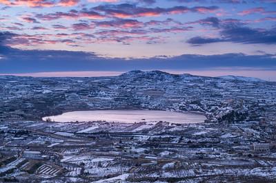 Sunrise at Lake Ram; Golan Heights