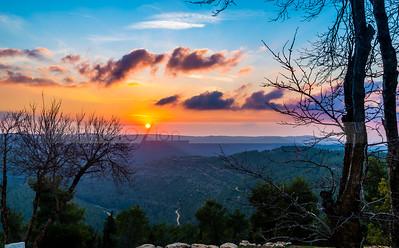 Sunset in Judean Hills