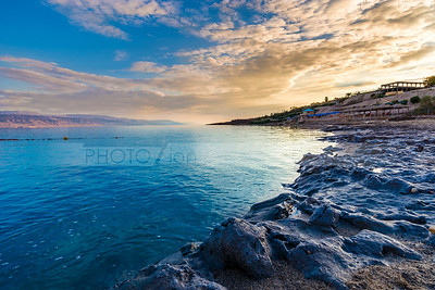 Dead Sea sunset at Kalia Beach