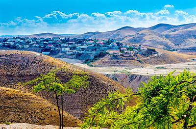 Mitzpe Yeriho/ Mitzpeh Yericho, a religious Israeli settlement, surrounded by the hills of the Judaean Desert