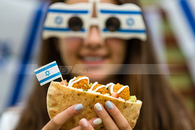 Israel's Independence Day; pita with falafel