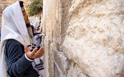 Jewish Orthodox man praying