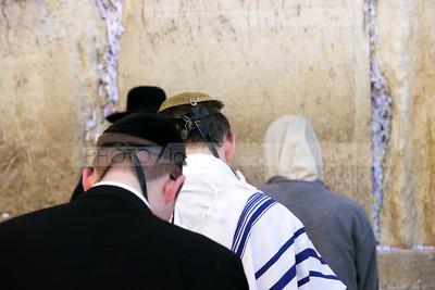 Jewish Men at the Western Wall