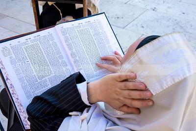 Jewish Orthodox man studying Torah