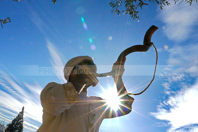 Man blowing Shofar