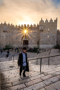 Jewish man walking from Damascus Gate