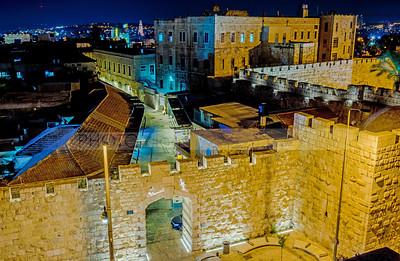 New Gate entrance to the Old City Jerusalem