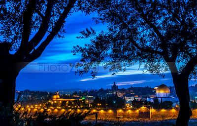 Jerusalem Temple Mount at dusk