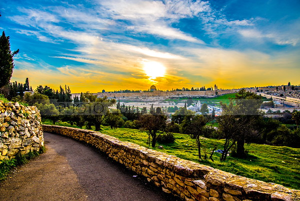 Mount of Olives at sunrise