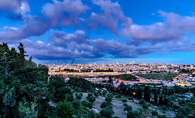 Jerusalem dawn, view from Mount of Olives