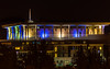 Israeli Knesset at night
