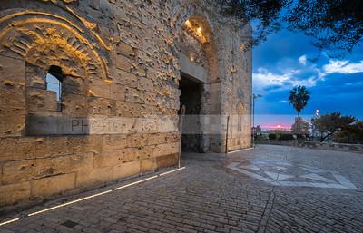 Bullet hole riddled Zion Gate, Jerusalem Israel