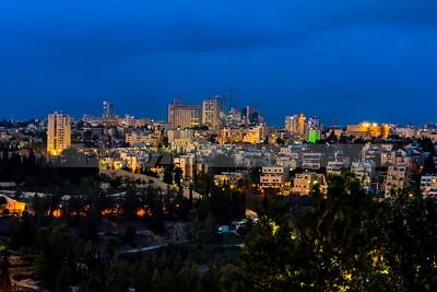 West Jerusalem in twilight