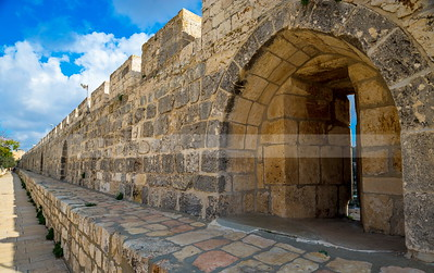 Jerusalem Old City walls on the Temple Mount