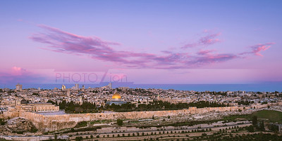 Jerusalem Old City at sunrise