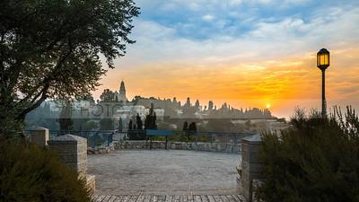 Mount Zion sunrise; Jerusalem Israel